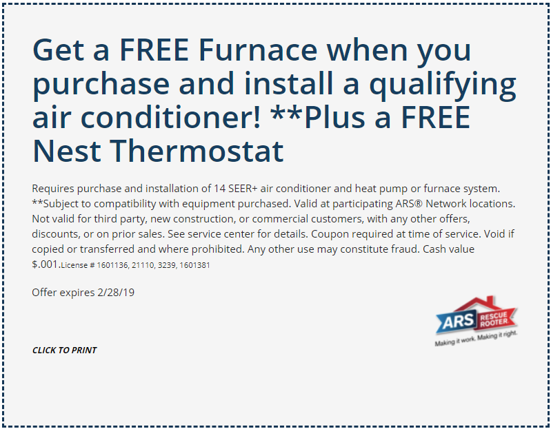 Heating And Cooling Specials Coupons Omaha Aksarben Ars